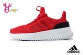 adidas CLOUDFOAM ULTIMATE 慢跑鞋 中大童 女款 輕量 透氣 運動鞋 Q9330#紅色◆OSOME奧森童鞋