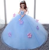 換裝芭比娃娃拖尾大婚紗套裝禮盒女孩公主過家家玩具會唱歌音樂娃   初見居家
