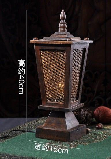 [協貿國際]實木竹編臥室燈單個價
