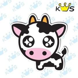 【收藏天地】防水防曬*安全帽 汽機車 萬用貼-萌萌乳牛(小)