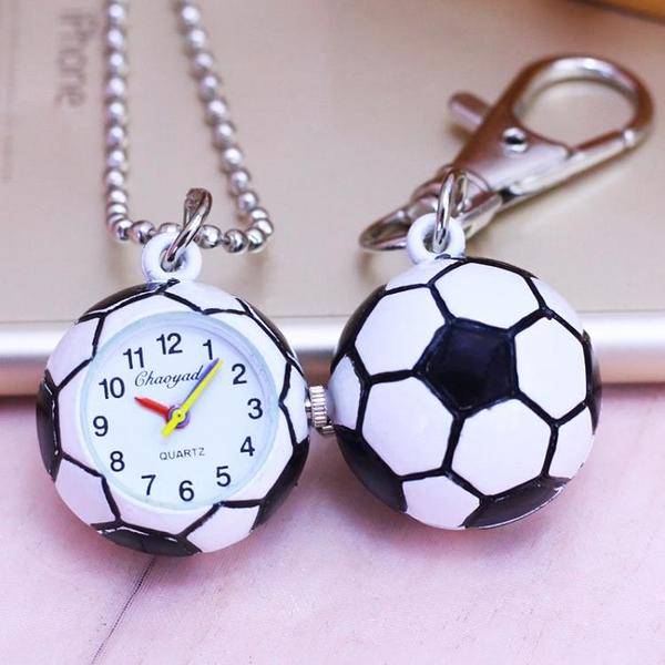 小男孩運動足球鑰匙扣錶