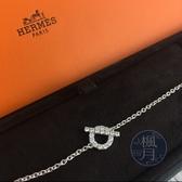BRAND楓月 HERMES 愛馬仕 FINESSE BRACELET 鑽石 帶鑽 造型 手鍊 墜鍊 K18 2.5G