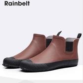 雨鞋防水鞋男士雨鞋時尚短筒雨靴戶外防滑膠鞋【聚寶屋】