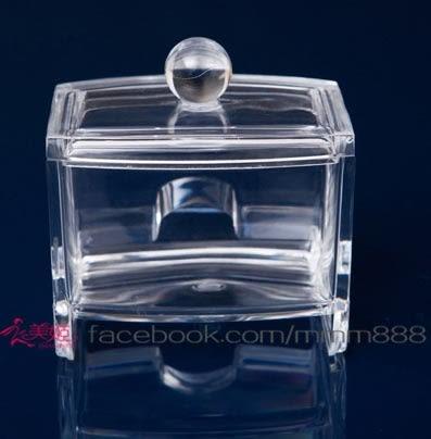 衣美姬♥優雅透明小收納盒 首飾盒 棉花棒盒