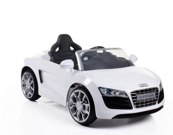 Audi R8電動車-白色【六甲媽咪】