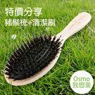 ◆ 促銷組含 櫸木豬鬃梳、梳子清潔刷各1支 ◆ 豬鬃梳木質握柄有紅紋 ◆ 特價商品不接受退換貨