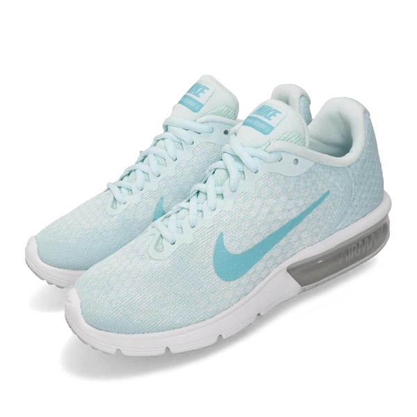 Nike 慢跑鞋 Wmns Air Max Sequent 2 藍 水藍 白 女鞋 運動鞋 【PUMP306】 852465-014