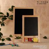 兒童畫板畫架套裝實木留言寫字板雙面臺式家用小黑板支架式廣告版     時尚教主