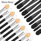 買一送一 化妝刷雙頭眼影刷眼影棒修容化妝刷子便攜彩妝工具套裝10支 【korea時尚記】