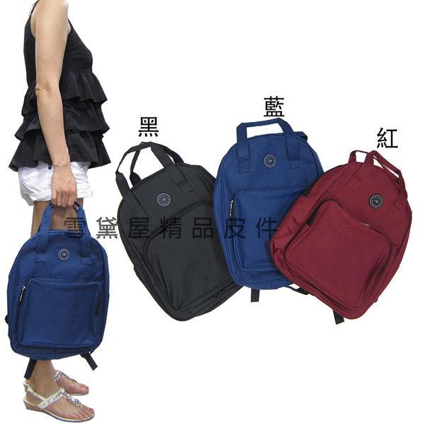 ~雪黛屋~bikali 後背包中小容量手提後背可外出休閒防水尼龍材質可放A4資料夾上學上班旅行JB015