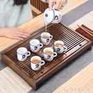 豪峰實木茶盤套裝家用功夫茶具茶台茶海排水簡約抽屜儲水單盤托盤 安妮塔小鋪