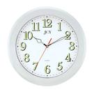【奇奇文具】STAT W-6873 銀框靜音夜光掛鐘/時鐘