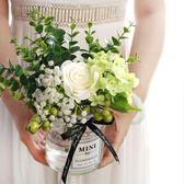ins北歐小清新絹花假花仿真花客廳花瓶裝飾品擺件餐桌花藝套裝設