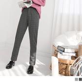 《BA4643》英倫質感格紋彈性直筒褲--適 XL~5L OrangeBear