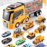 工程玩具車消防模型仿真合金大號小汽車挖掘機男孩兒童貨車【齊心88】