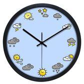 卡通創意掛鐘復古北歐靜音機芯大客廳兒童房可愛鐘錶 wy 年貨慶典 限時鉅惠