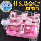 倉鼠基礎籠雙層豪華別墅城堡基礎籠倉鼠窩寵物金絲熊超大號別墅CY『小淇嚴選』