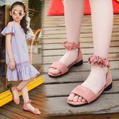 女童鞋涼鞋新款潮韓版夏季中大童女孩小高跟公主鞋兒童涼鞋女