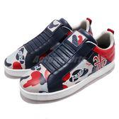 Royal Elastics 休閒鞋 Icon 藍 紅 高質感皮革鞋面 無鞋帶設計 橡膠大底 男鞋【PUMP306】 02091818