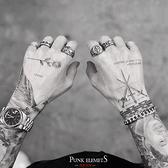 戒指朋克男士鈦鋼復古戒指男潮個性歐美食指網紅蹦迪嘻哈霸氣單身指環 JUST M
