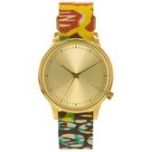 KOMONO X Vlisco Estelle系列聯名腕錶-金x非洲印花