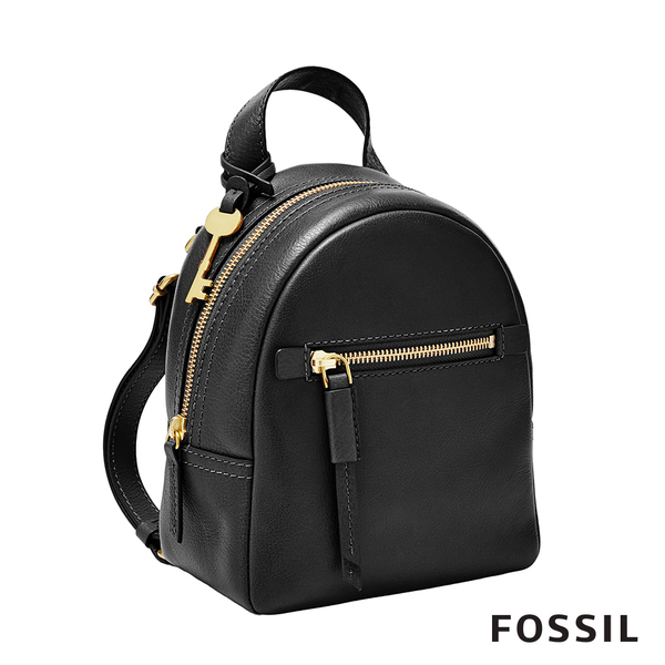 FOSSIL MEGAN 真皮超迷你後背包-黑色 ZB7916001