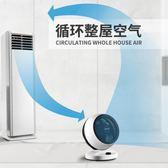 風扇奧克斯電風扇循環扇家用渦輪空氣對流扇立體搖頭學生靜音台式電扇-cy潮流站