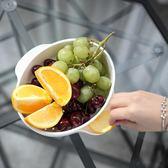 水果盤創意雙層水果盤客廳家用瀝水多功能果盤