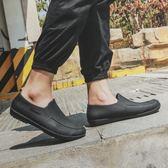 桃園百貨 低幫時尚短筒洗車雨鞋潮防滑廚師工作防水膠鞋