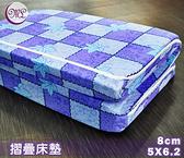 杜邦高壓透氣棉三折.硬式床墊.8cm.標準雙人.全程臺灣製造【名流寢飾家居館】