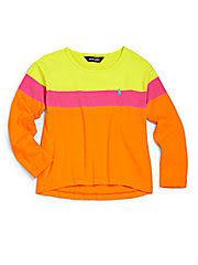Ralph Lauren Polo長袖上衣 三色圖案橘色設計款長袖T恤