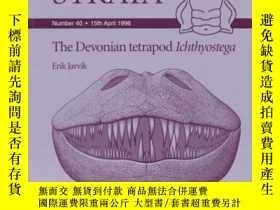二手書博民逛書店The罕見Devonian Tetrapod IchthyostegaY410016 Erik Jarvik