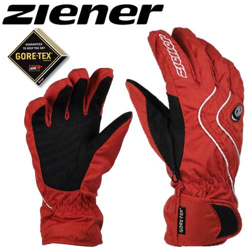 德國名牌【ZIENER】GORE-TEX防水防寒專業運動手套 - 紅