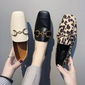 半拖鞋 歐洲站春季新款韓版百搭外穿平底一腳蹬豆豆鞋網紅單鞋兩穿潮 瑪麗蘇精品