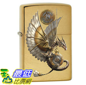 [8美國直購] Zippo 79281 蒸氣龐克龍 打火機 Lighter: Anne Stokes Steampunk Dragon - Brushed Brass