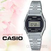 CASIO手錶專賣店 LA690WA-1 中性電子錶 不鏽鋼錶帶 黑色錶面 防水 碼錶功能 LA690WA