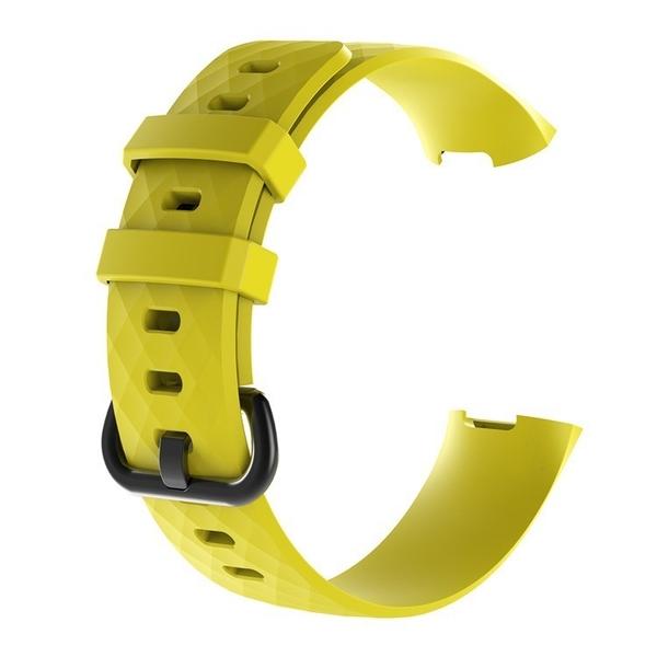 Fitbit charge 3 斜紋錶帶 智能手環 運動手錶錶帶 舒適透氣 矽膠替換腕帶 可調節式開口