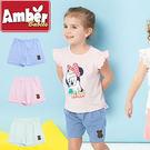 短褲  褲子 Amber 純棉 女童 小熊水玉點點系列