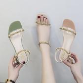 涼鞋透明涼鞋女夏季配裙子穿的鞋新款百搭晚晚風溫柔鞋仙女羅馬鞋