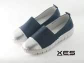 XES 透氣網狀休閒鞋 真皮舒適 女款 藍色