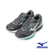 【MIZUNO 促銷8折】MIZUNO WAVE CREATION 19(W) 一般型慢跑鞋 黑銀 J1GD170105 女鞋