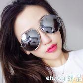 時尚太陽鏡女潮個性圓臉墨鏡
