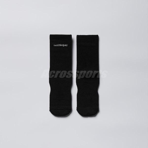 Nozzle Quiz 後研 Essential 基本款 黑色 中筒休閒襪 男女款 單雙入 單一尺寸23cm-29cm【ACS】 ACBSSX02KK