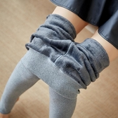 快速出貨 秋冬打底褲女外穿加絨加厚灰色踩腳保暖棉褲連腳連襪秋褲