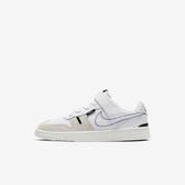 Nike Squash-type (ps) [CJ4120-100] 中童鞋 運動 休閒 舒適 輕巧 魔鬼氈 簡約 白黑