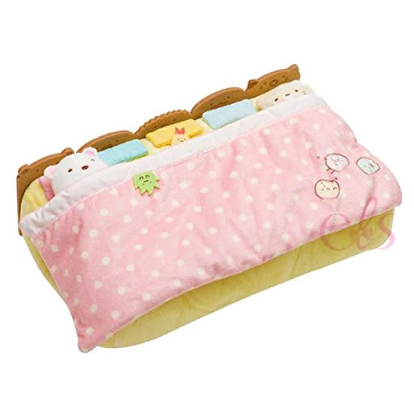 日本SAN-X 角落生物 棉被床鋪造型面紙盒面紙套 ☆艾莉莎ELS☆