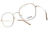 CARIN 光學眼鏡 MOSS C3 (琥珀棕-金) 韓星秀智代言 百變時尚多邊款 # 金橘眼鏡