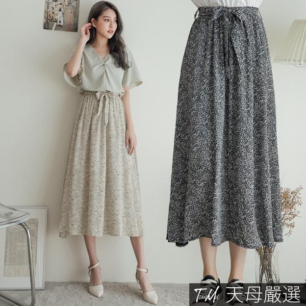 【天母嚴選】飄逸小葉子雪紡裙(共二色)