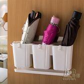 創意雨傘收納桶家用防水置物架多功能可摺疊雨傘收納架門後掛牆架CY 自由角落