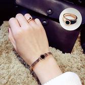 戒指正韓簡約氣質百搭潮人女戒玫瑰金色食指指環個性關節戒 全館免運折上折